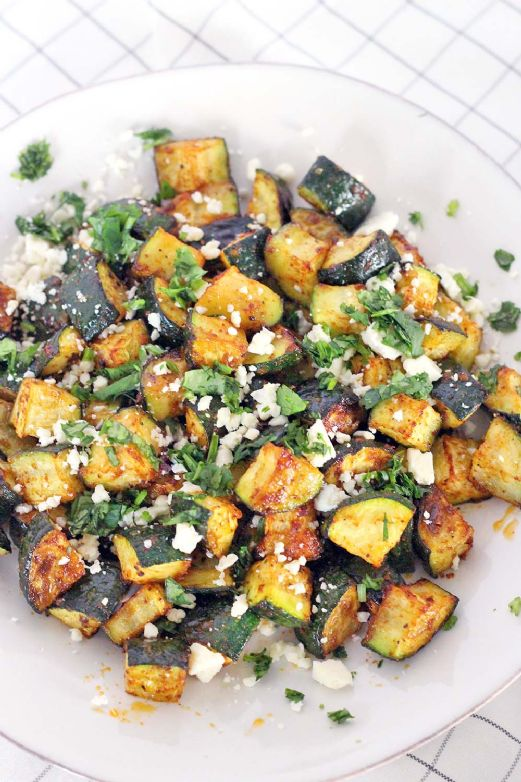 Roasted Mexican Zucchini