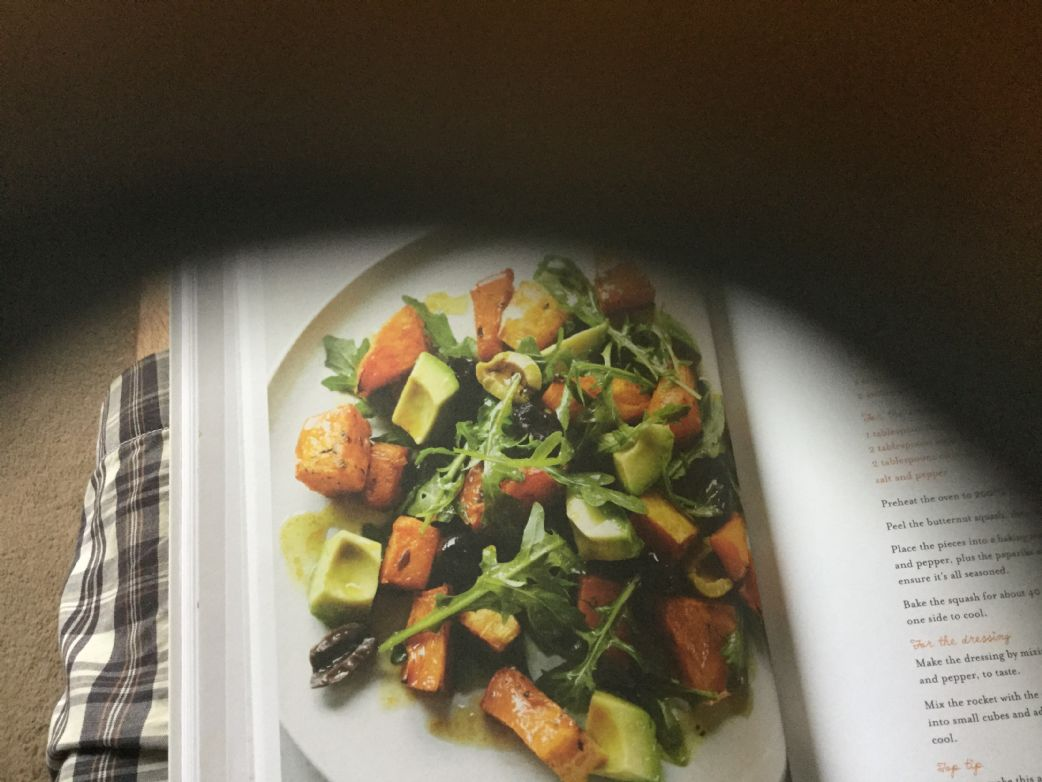 Roasted Squash,olive,avocado and Rocker Salad