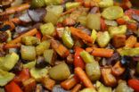 Roasted Vegetables in Chicken Stock