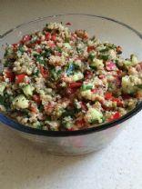 Robin's Quinao Cucumber Mung Bean salad