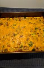 Sausage, Veggie, Egg & Cheese Breakfast Casserole