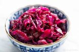 Sauteed red cabbage and Hemp seeds