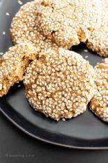 Sesame Tahini Almond butter cookies Vegan
