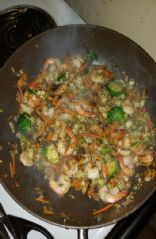Shrimp Stir Fry w/brussel sprouts, cauliflower rice,