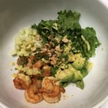 Shrimp and Avocado Salad with Curry Dressing