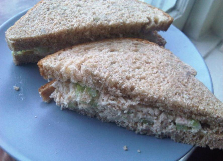 Simple tuna sandwich recipe sparkrecipes for Recipes with tuna fish