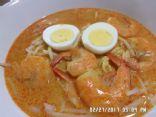 Singapore Laksa with Shrimp