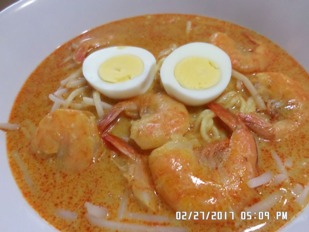 Singapore Laksa with Shrimp