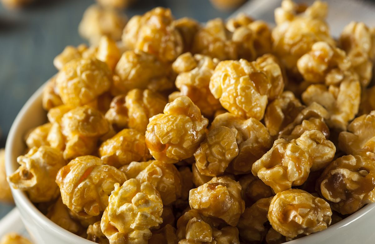 Skinny Caramel Popcorn Recipe | SparkRecipes