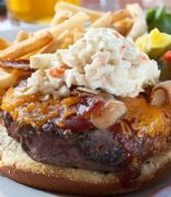 Slim Fast Healthy Recipe: Cheeseburger with Peppery Coleslaw