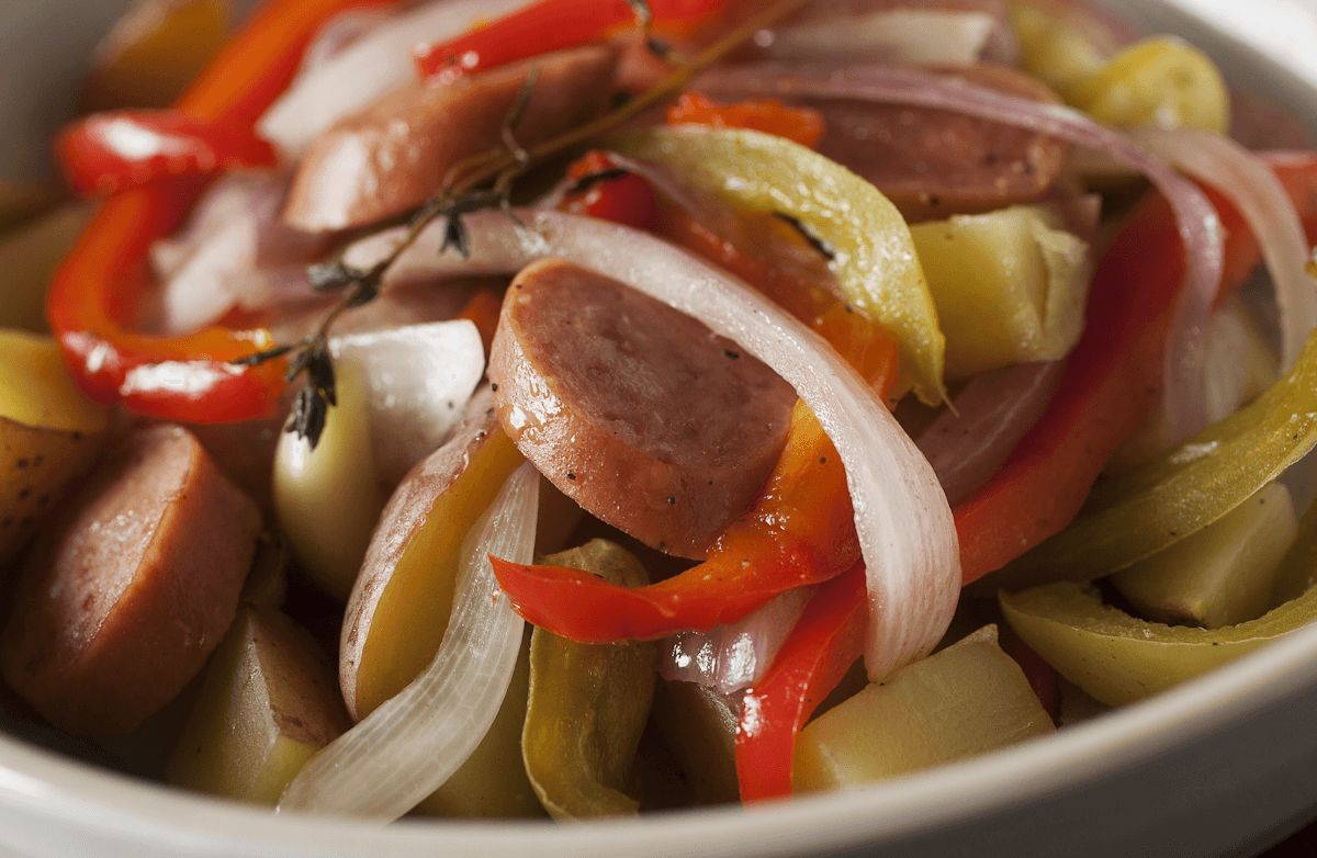 Slimmer Sausage and Peppers