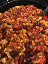 Slow Cooker Chicken & 3 Bean Chilli