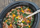 Slow-Cooker Chicken and-Spinach Stew