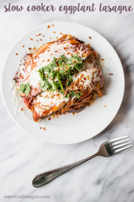 Slow Cooker Eggplant Lasagna With Turkey Sausage