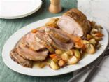 Slow Cooker Pork Tenderloin with Apples, Cranberries, and Carrots