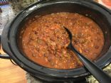 Slow-Cooker Three Bean Wheat Berry Chili