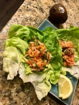 Smoked Salmon Salad lettuce Wraps