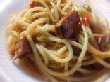 Smoked sausage pasta toss