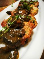 Smothered Pork Chops with Mustard and Mushroom Gravy