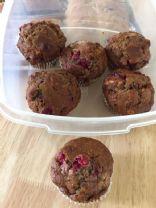 Sourdough Date Nut Cranberry Muffins