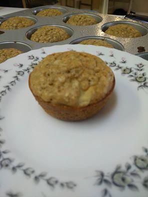 Spiced Banana oatmeal muffins