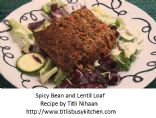 Spicy Bean and Lentil Loaf