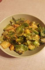 Spicy Brussel Sprout Stir Fry