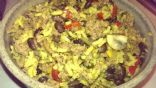 Spicy Ground Turkey with Black beans, Peppers and onions
