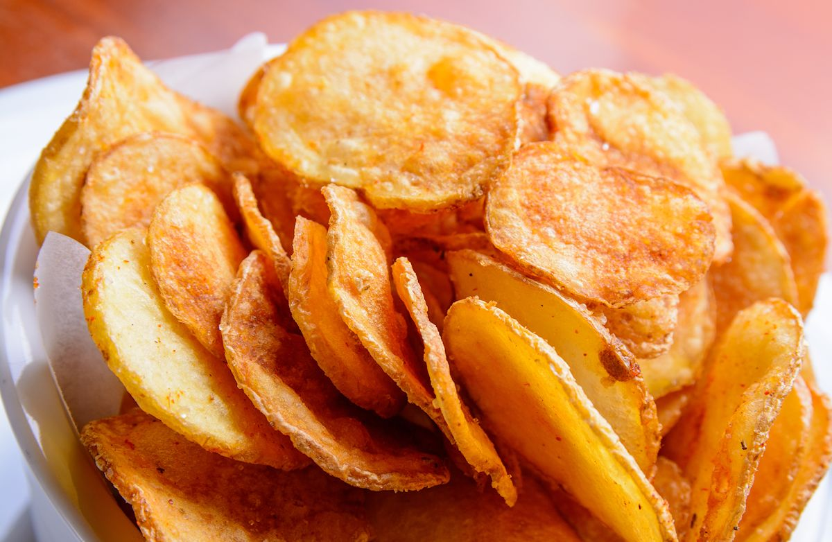Spicy Sweet Potato Chips Recipe | SparkRecipes