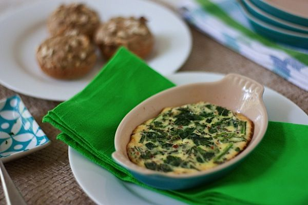Spinach, Kale, Mexican Cheese Egg Bake Recipe