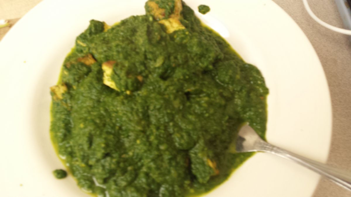 Spinach Paneer (Ea 2 oz serving is 1 freggie)
