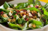 Spinach Salad with Cherries and Pomegranate Vinaigrette