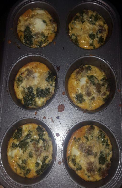 Spinach feta fritatta