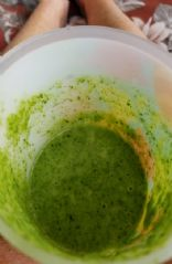 Spinach pear carrots smoothie