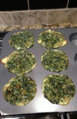 Spinach quiche muffin
