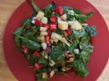 ADL spinach  strawberries pepitas almonds and apple salad