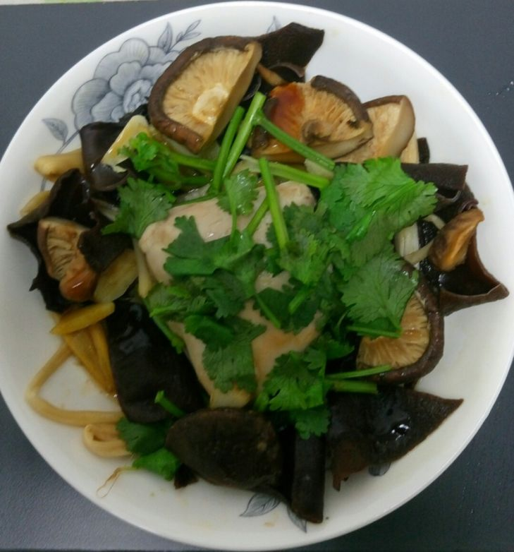Steam chicken with Mushrooms
