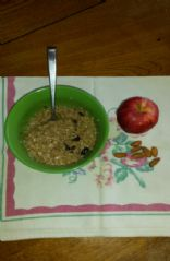 Steel Cut Oats with Cinnamon Fruit and Nuts