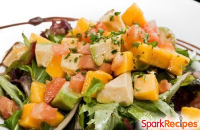 Stepf's Mango-Avocado Salad with Lime-Cilantro Dressing