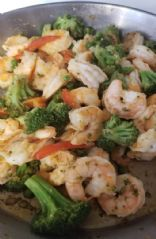 Stir Fried Shrimp with Riced Cauliflower