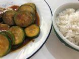 Stir Fry Zucchini in Mongolian Garlic Sauce