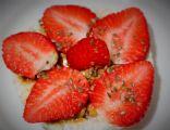 Strawberry Vanilla Yogurt Rice Cake