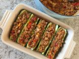Stuffed Zucchini With Ground Turkey