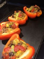 Stuffed pepper (zucchini and wild rice)