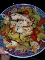 Summer Vegetable Pasta w/ Chicken