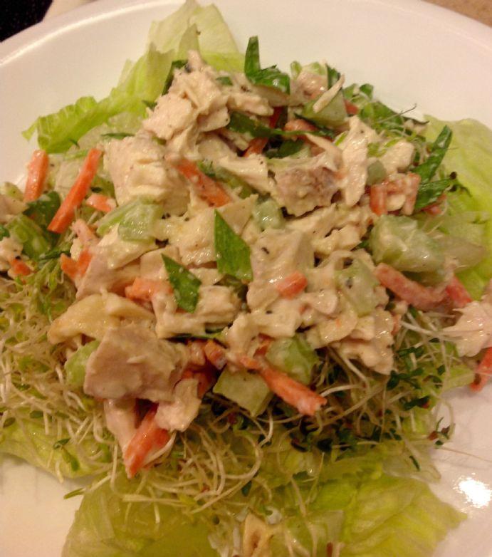 Tarragon Chicken Salad Lettuce Wraps