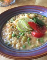 Thai coconut red lentil soup