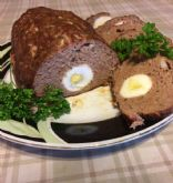 Tina's Meatloaf with hard boiled eggs