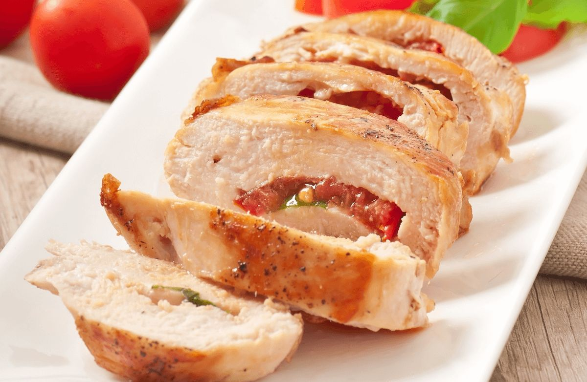 Tomato-Basil Stuffed Chicken Breasts