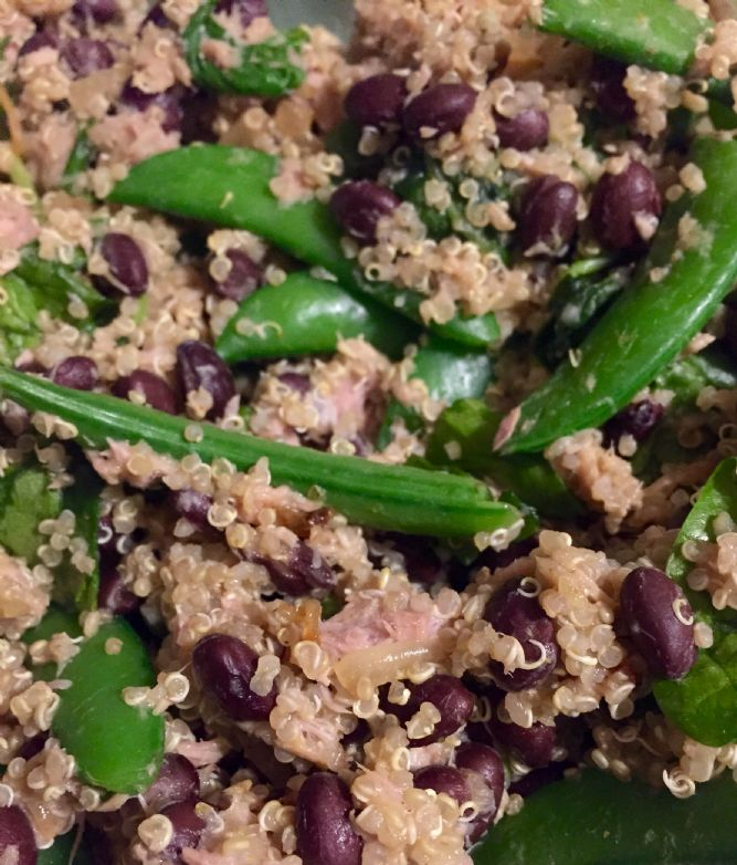 Tuna, Black Bean & Quinoa Salad w/ Veggies
